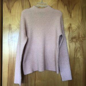 Forever 21 Light Pink Mock Neck Sweater